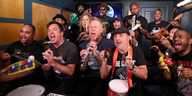Tudo que você precisa ouvir hoje é o Metallica tocando clássico com instrumentos de brinquedo