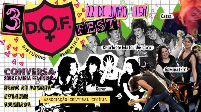 3° Distúrbio Feminino Fest reúne música e mídia feminina